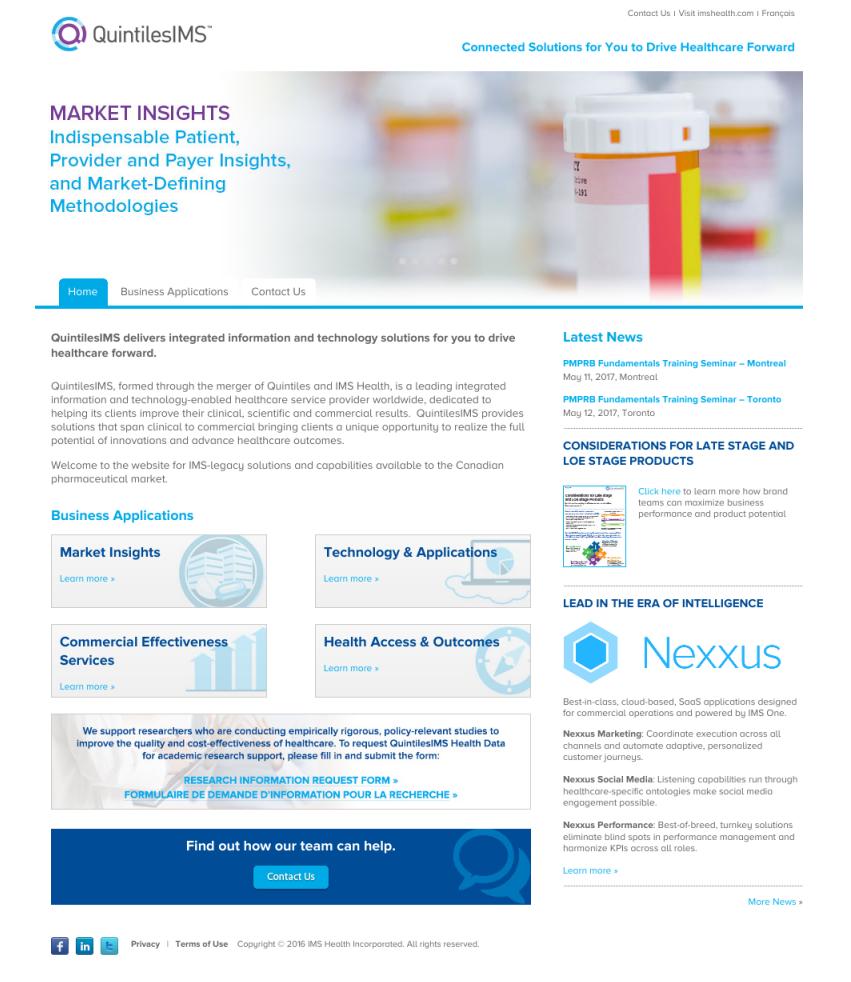 Quintiles IMS Website