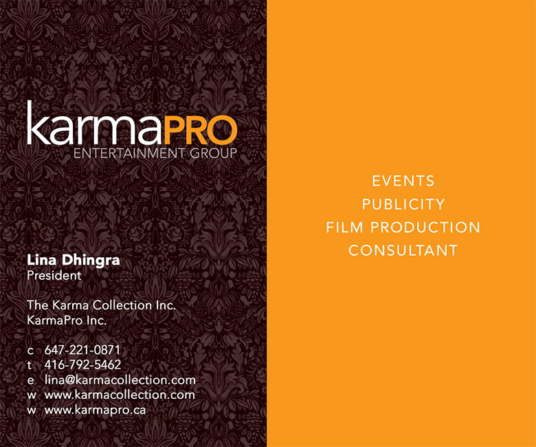 KarmaPro Entertainment Business Card