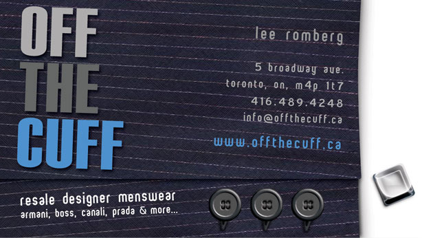 Off the Cuff Business Card