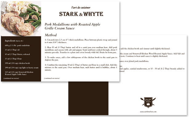 Stark & Whyte Recipe Card