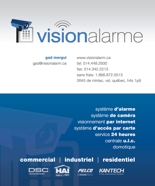 Vision Alarme Business Card