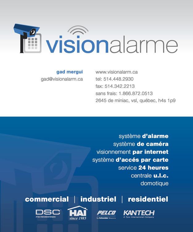 Vision Alarme Business Card