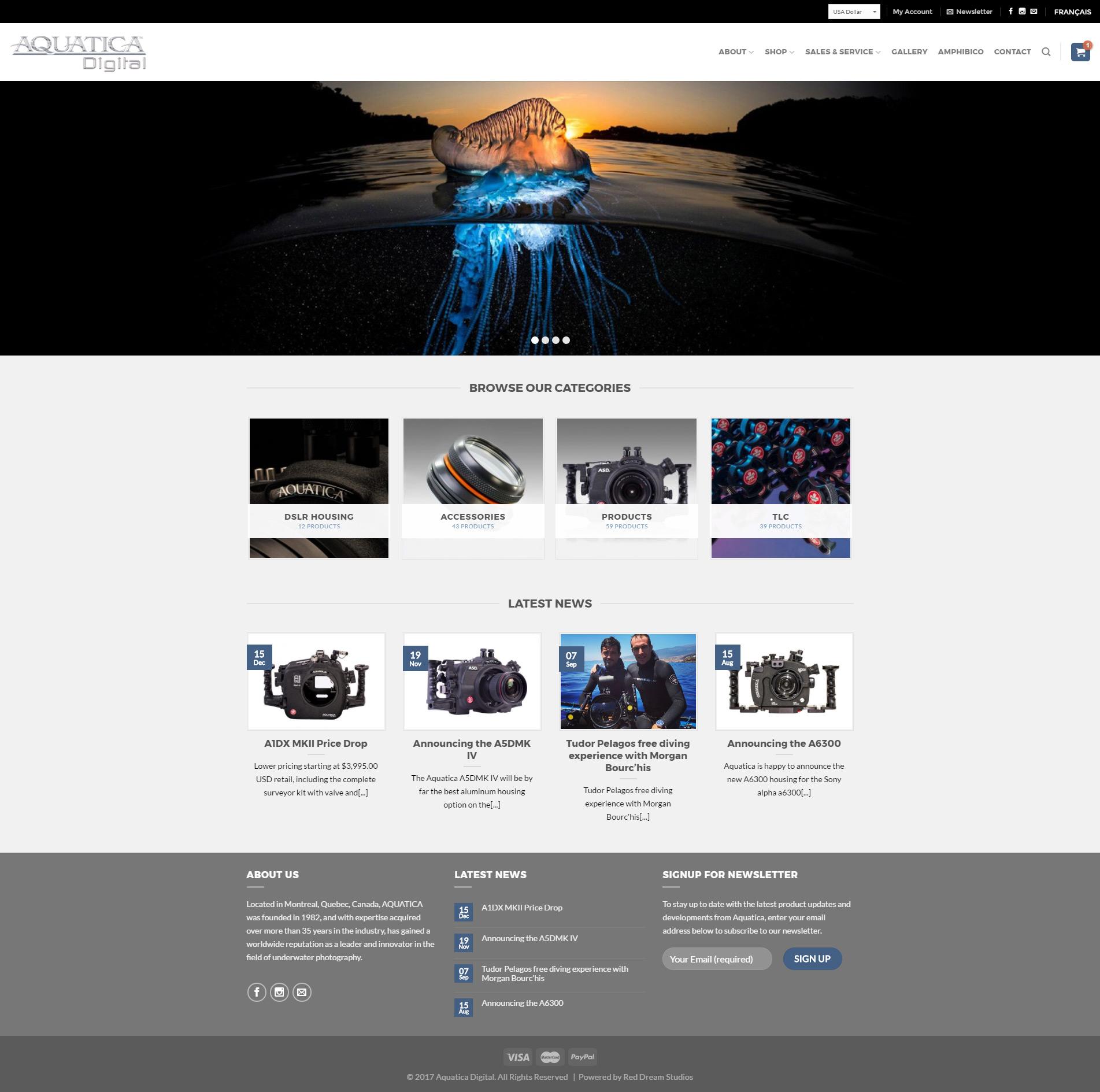 Aquatica Website