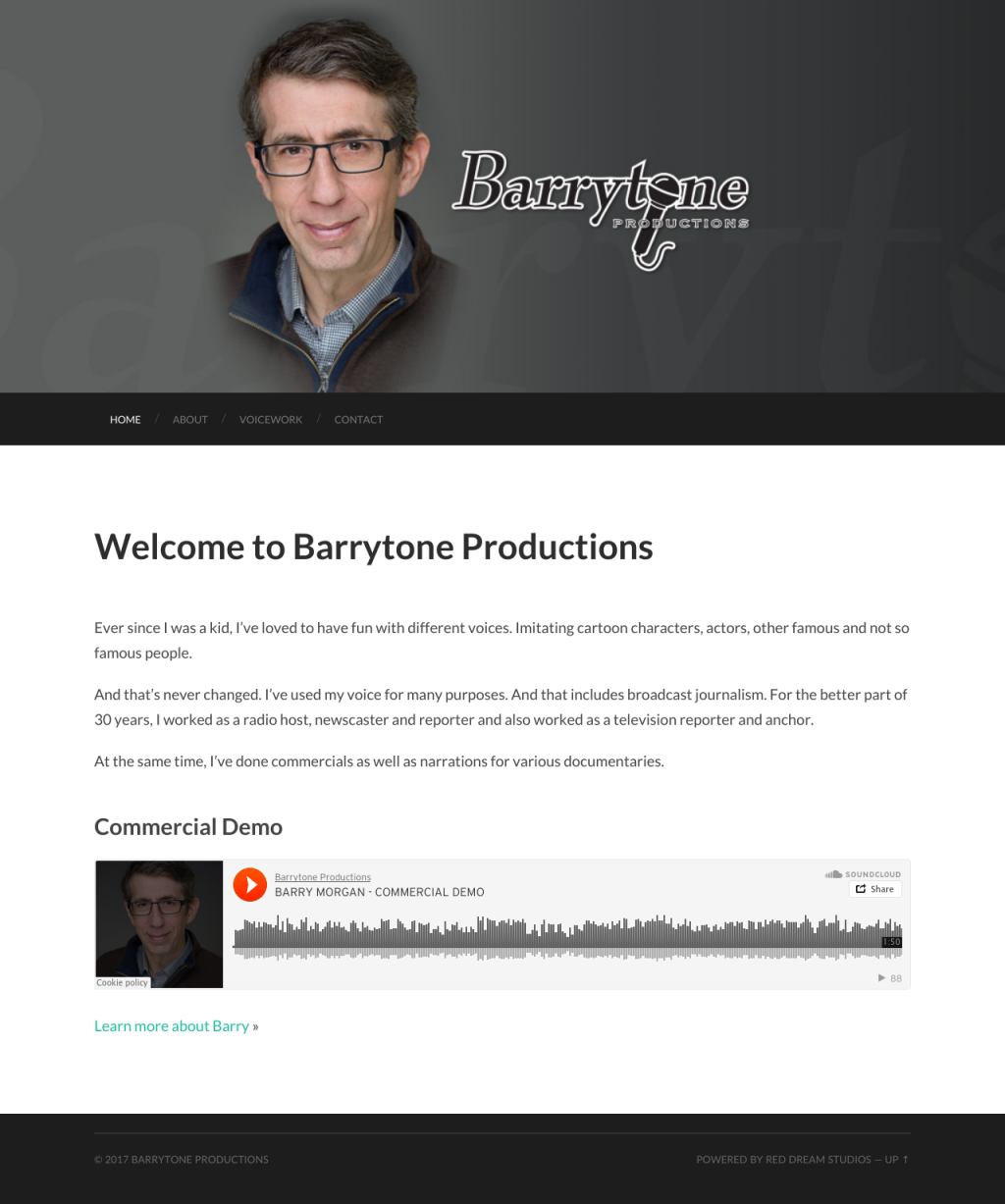 Barrytone Productions Website