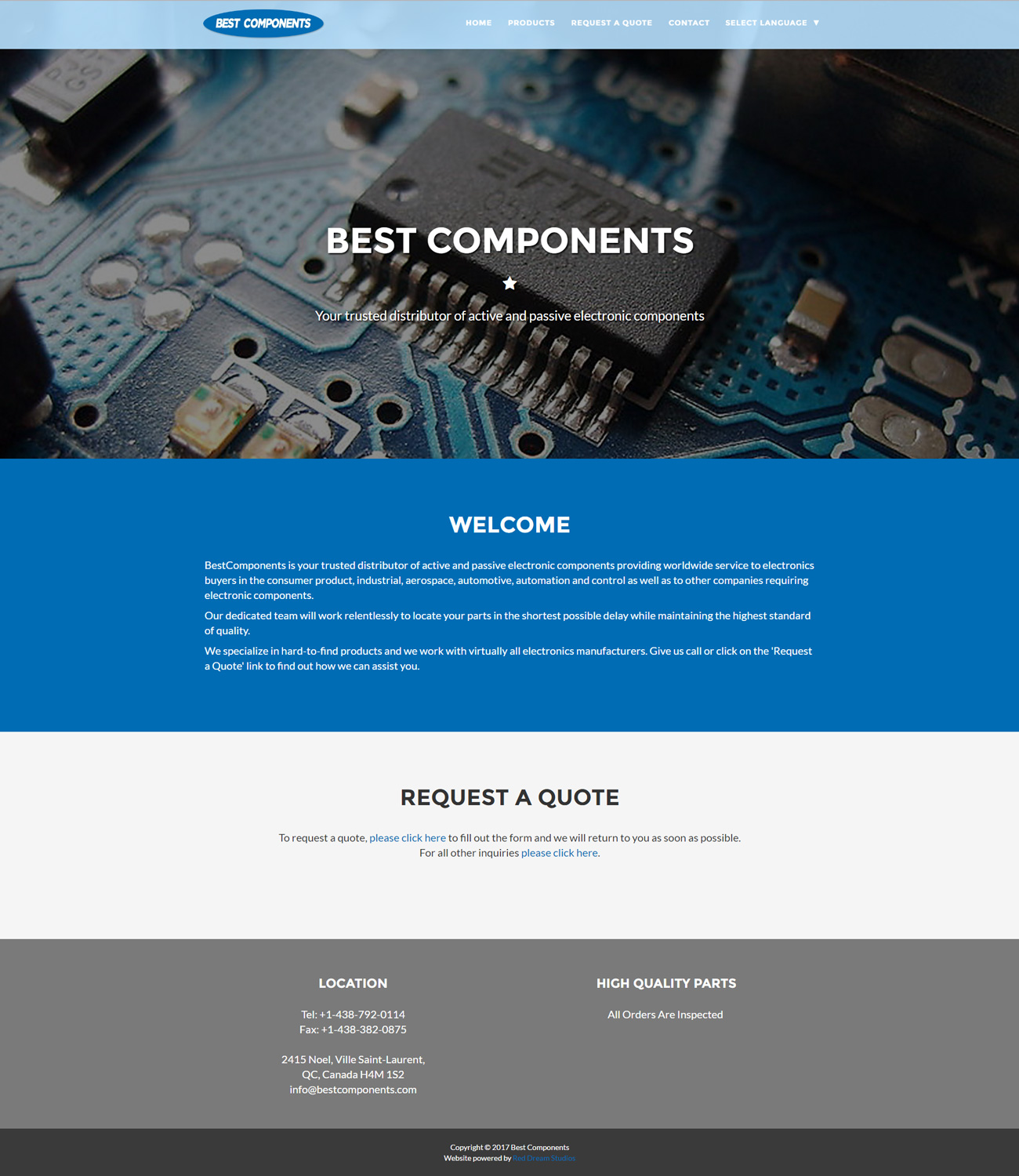 Portfolio Website Design Graphic And Branding Services Electronics Repair Center Inc We Specialize In Industrial Electronic