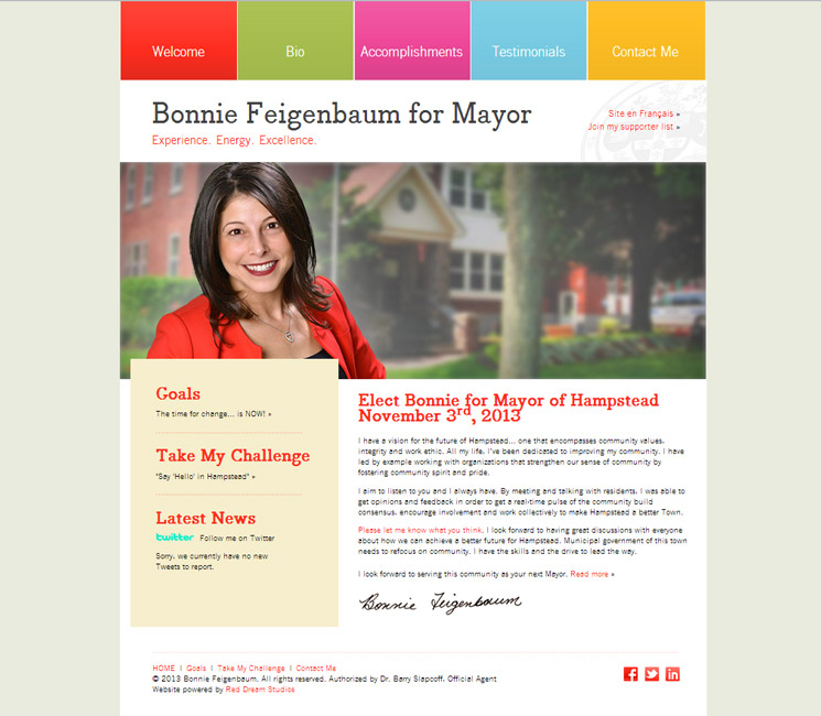 Bonnie for Mayor Website