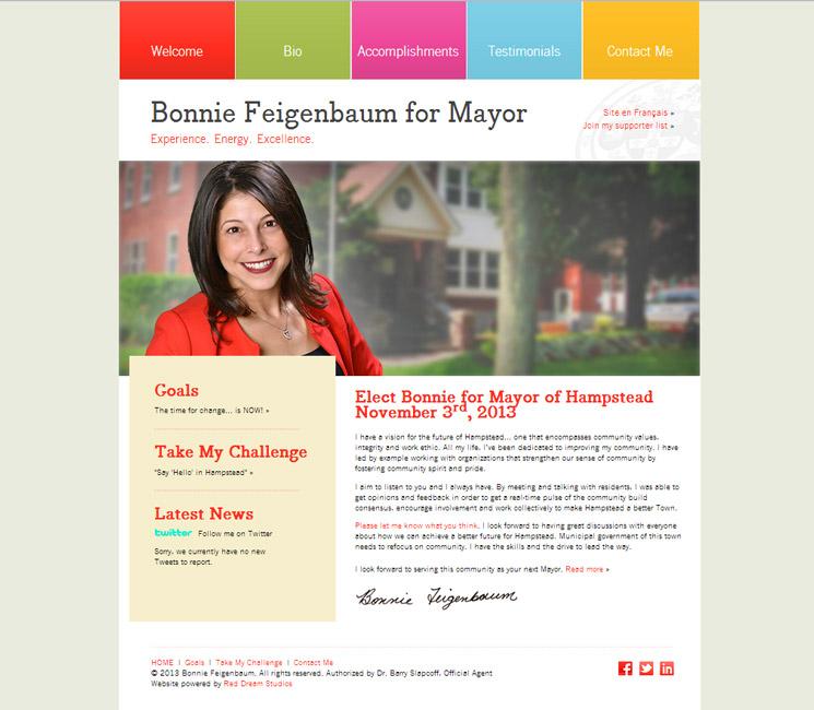 Bonnie for Mayor Website