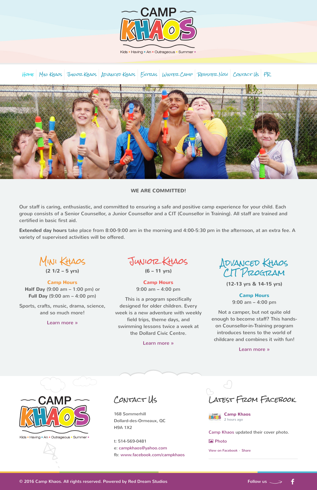 Camp Khaos Website