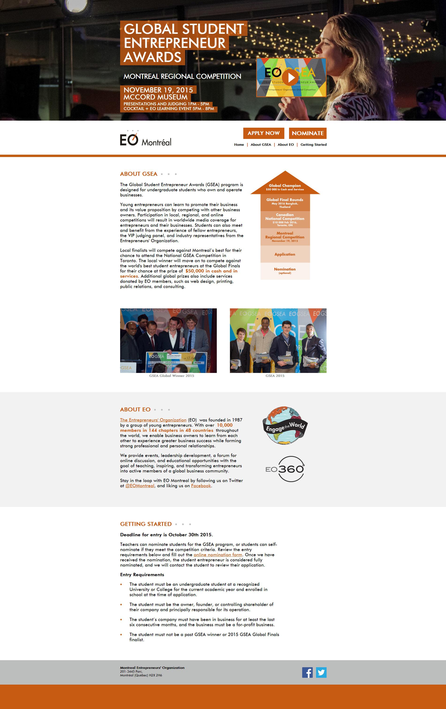 GSEA Montreal Website