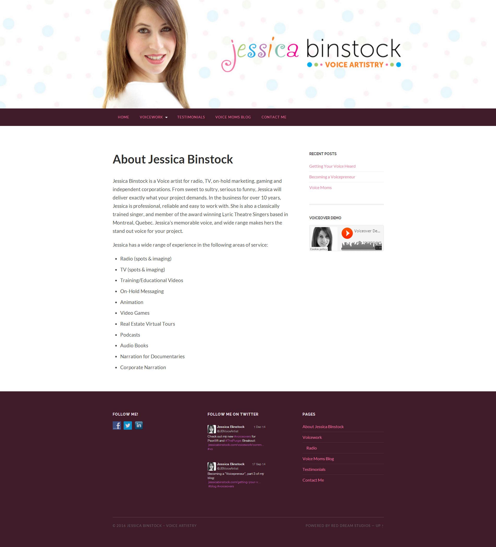 Jessica Binstock Website