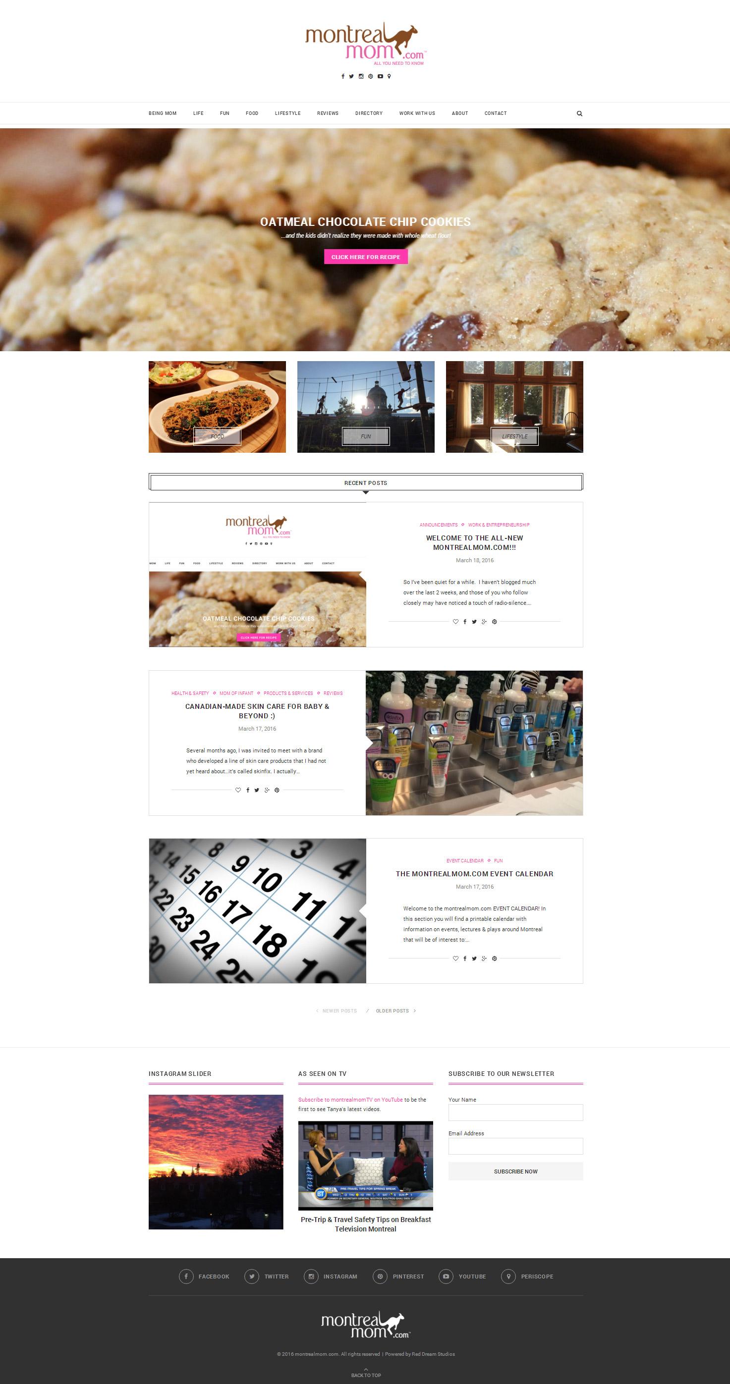 Montrealmom Website