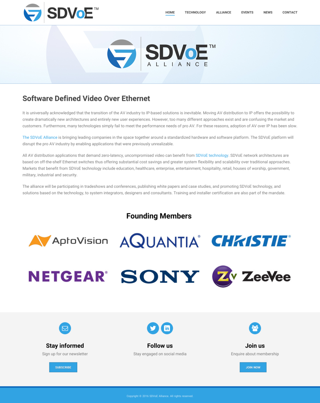 SDVoE Website